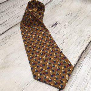 Valentino Cravatte Collection Silk Tie Floral Blue